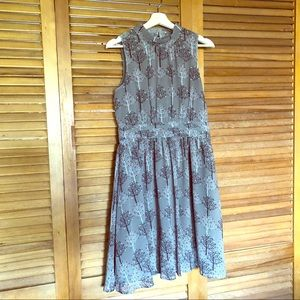 Fervour tree print sleeveless dress, NWOT!
